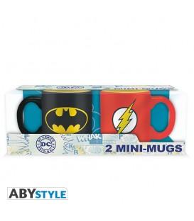 DC COMICS - 2 tazas espresso - 110 ml - Batman & Flash