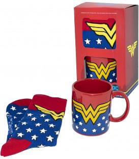 Set wonder Woman taza y calcetines