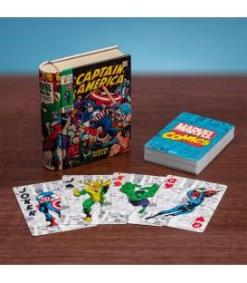 Baraja de cartas Marvel Capitán América