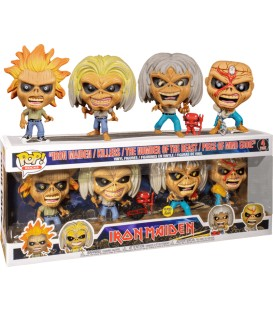 Funko POP Rocks: Iron Maiden - Eddie 4 Pack (Glow in the Dark)