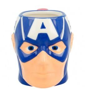 Taza 3D Cabeza Capitan America Marvel